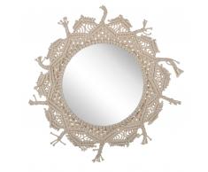 Specchio da parete ø 55 cm beige VIDISHA