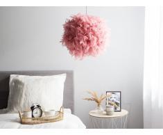 Lampada a sospensione in color rosa DRAVA