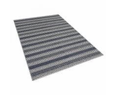 Tappeto blu/grigio in cotone fatto a mano - 160x230cm - PATNOS