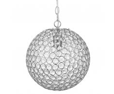 Lampada a sospensione in color argento TOFFOL