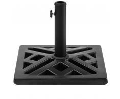 Base per ombrellone in cemento nero 46 x 46 cm