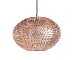 Lampada da soffitto con paraluce in metallo color rame - REINE