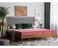 Letto in legno 180x200cm marrone e grigio POISSY