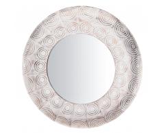 Specchio da parete tondo bianco e color rame 75cm KOLLAM
