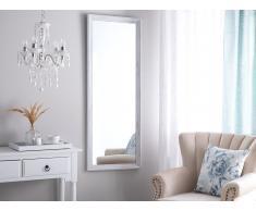 Specchio da parete in colore bianco 50 x 130 cm BENON