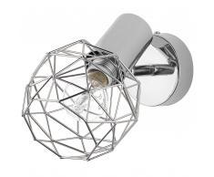 Lampada da parete color argento CHENAB