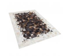 Pelle tappeto marrone / beige 140 x 200 cm OKCULU
