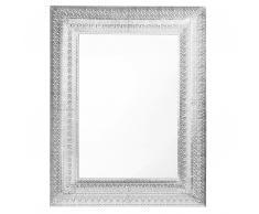 Specchio da parete 70 x 90 cm Argento PORDIC