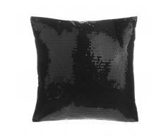 Cuscino decorativo a paillettes 45 x 45 cm nero