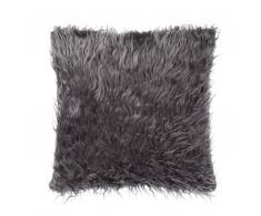 Cuscino decorativo in pelliccia finta 45 x 45 cm grigio