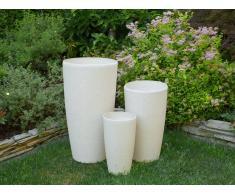 Vaso da fiori moderno tondo bianco 39x39x75cm ABDERA