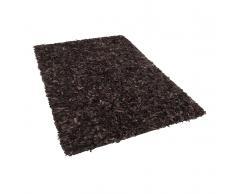 Tappeto shaggy in pelle marrone - 140x200cm - MUT