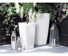 Vaso per piante in color grigio pietra 30x30x57cm MODI