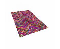 Tappeto shaggy multicolore in tessuto - 80x150 - KARASU