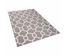 Tappeto rettangolare grigio - Tappeto moderno di design - 160x230cm - ZILE