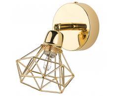 Lampada da parete in metallo color oro ERMA
