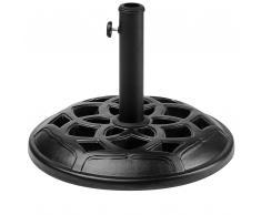 Base nera in cemento per ombrellone