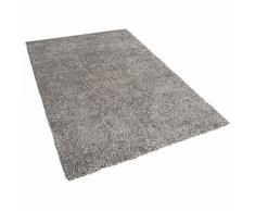 Tappeto shaggy rettangolare in tessuto grigio argento- 160x230cm - ESME