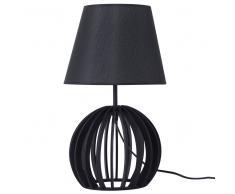 Lampada da tavolo in legno nero SAMO