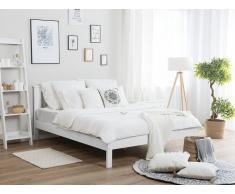 Letto doppio in legno bianco 140x200cm TANNAY