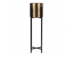 Portavaso oro/nero 90 cm FLORINA