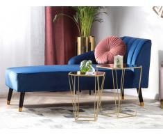 Set da 2 tavolini da soggiorno oro e specchio SIERRA