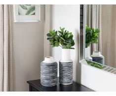 Vaso di fiori decorativo bianco e grigio LYSTRA