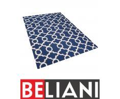 Tappeto rettangolare blu - Tappeto moderno di design - 160x230cm - ZILE
