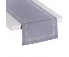 Runner da tavolo 35 x 180 cm grigio TRECON