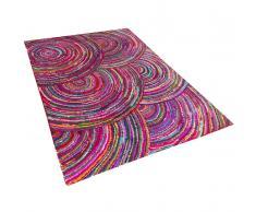 Tappeto multicolore rettangolare in cotone e poliestere - 140x200cm - KOZAN