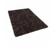 Tappeto shaggy in pelle marrone - 80x150cm - MUT