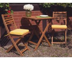 Set di 2 cuscini per sedie giardino FIJI giallo/bianco