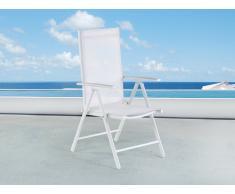 Sedia da giardino in alluminio bianco CATANIA