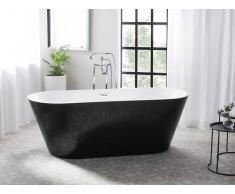 Vasca da bagno freestanding bianca-nera CABRITOS