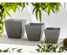 Vaso da fiori grigio scuro 34x34x34cm ZELI