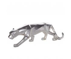 Statuetta decorativa color argento PANTHER