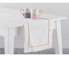 Runner da tavolo color bianco crema 35 x 180 cm CEMEL