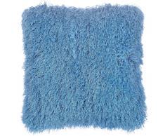 Cuscino di pelliccia blu 45 x 45 cm CIDE