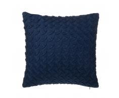 Cuscino decorativo a zig zag 45 x 45 cm blu
