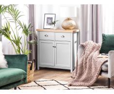 Credenza grigio/legno naturale CLIO