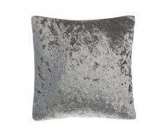 Cuscino decorativo in velluto 45 x 45 cm grigio