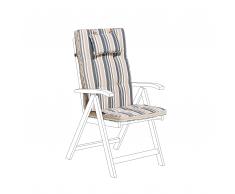 Cuscino per sedia da giardino TOSCANA strisce blu beige
