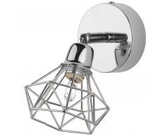 Lampada da parete di color argento ERMA
