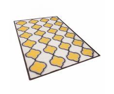 Tappeto rettangolare giallo beige - Tappeto moderno di design - 140x200cm - TIRE