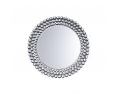 Specchio da parete in argento ø70 cm STENAY