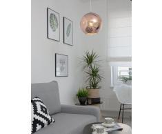 Lampadario sferico in vetro oro rosa ASARO
