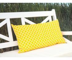 Cuscino decorativo da giardino con motivo giallo 40 x 70 cm