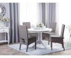 Set di 2 sedie in rattan grigio con cuscino ANDES