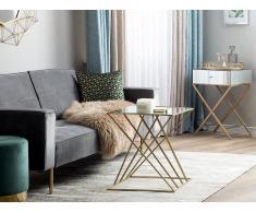 Tavolino da soggiorno specchiato e oro SOLEDAD