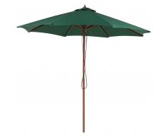 Ombrellone da giardino in legno Ø270cm colore verde TOSCANA II